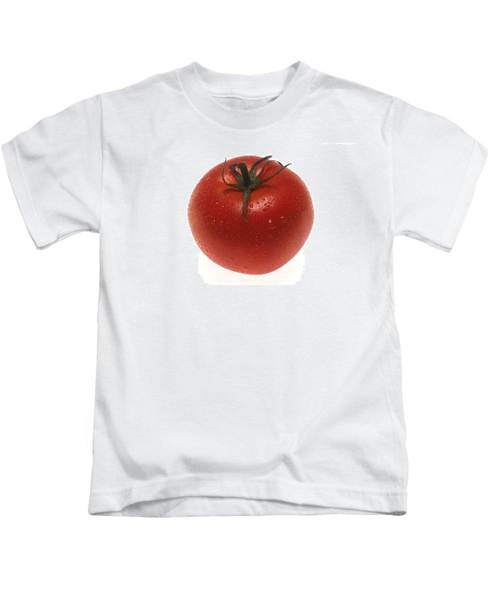 Tomato Kids T-Shirt featuring the photograph Fresh Tomato by PhotographyAssociates
