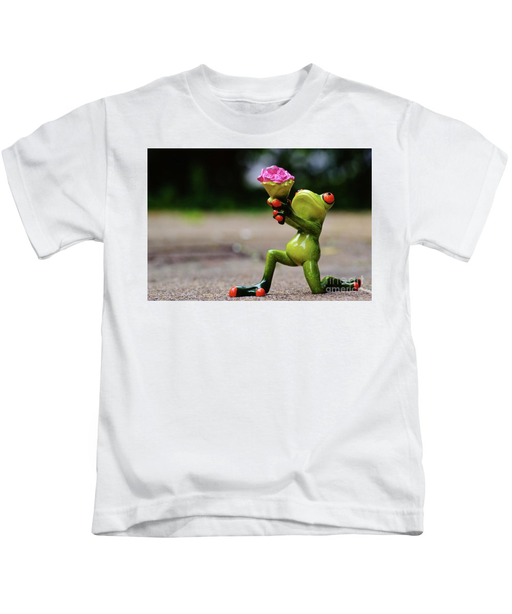 Froggy Kids T-Shirt featuring the digital art Froggy Sorry by Ivan Angelovski
