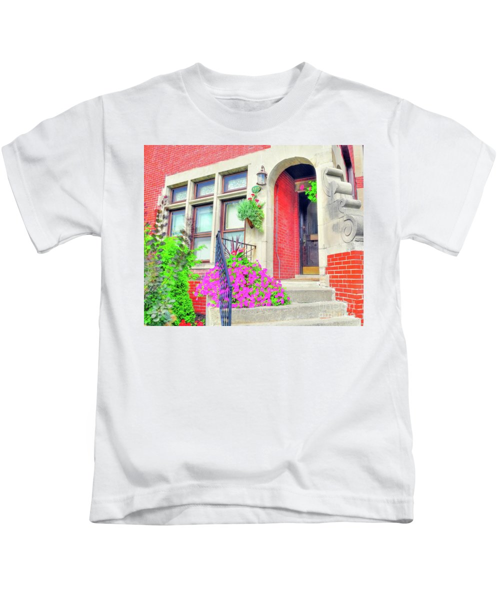 Front Kids T-Shirt featuring the photograph Front Entrance by Kathleen Struckle