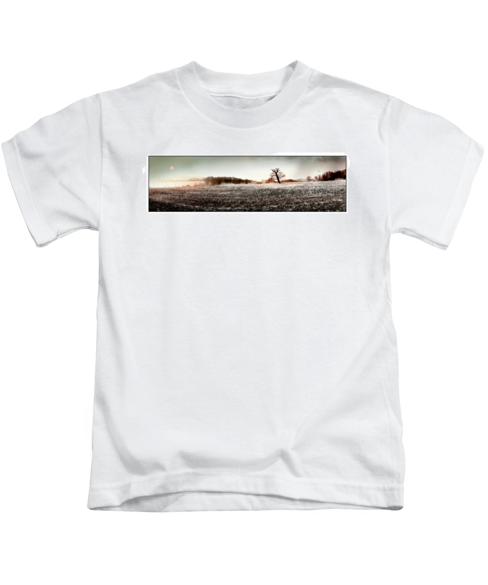 Landscape Kids T-Shirt featuring the photograph Frosty Landscape by Mal Bray