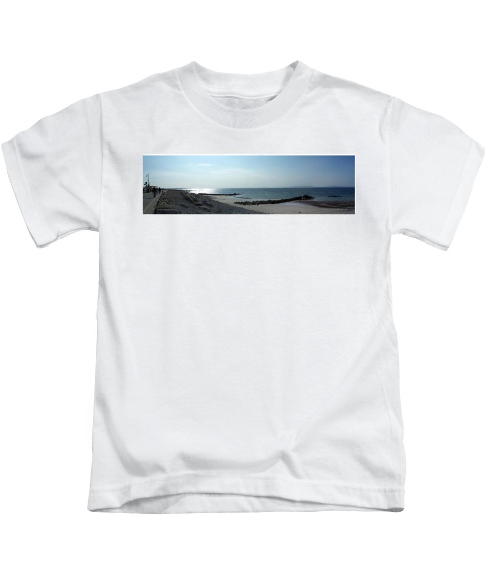 Irish Kids T-Shirt featuring the photograph Galway Bay At Salt Hill Park Galway Ireland by Teresa Mucha