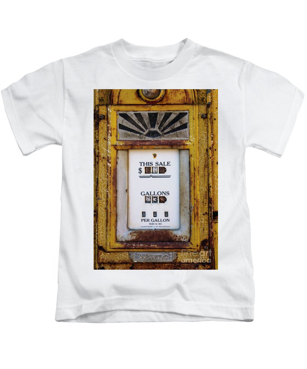 Business Kids T-Shirt featuring the photograph Gas Pump by Bob Zuber