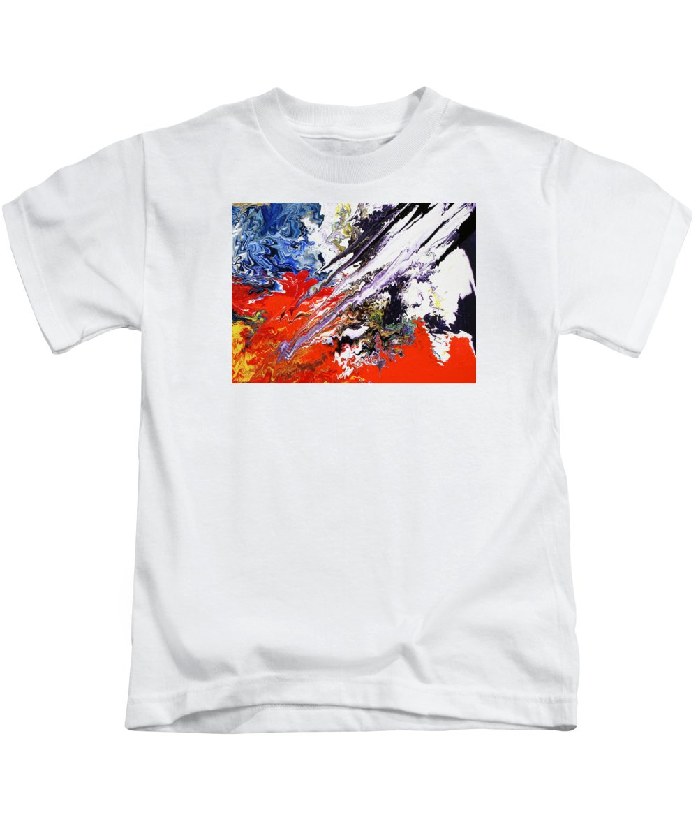 Fusionart Kids T-Shirt featuring the painting Genesis by Ralph White