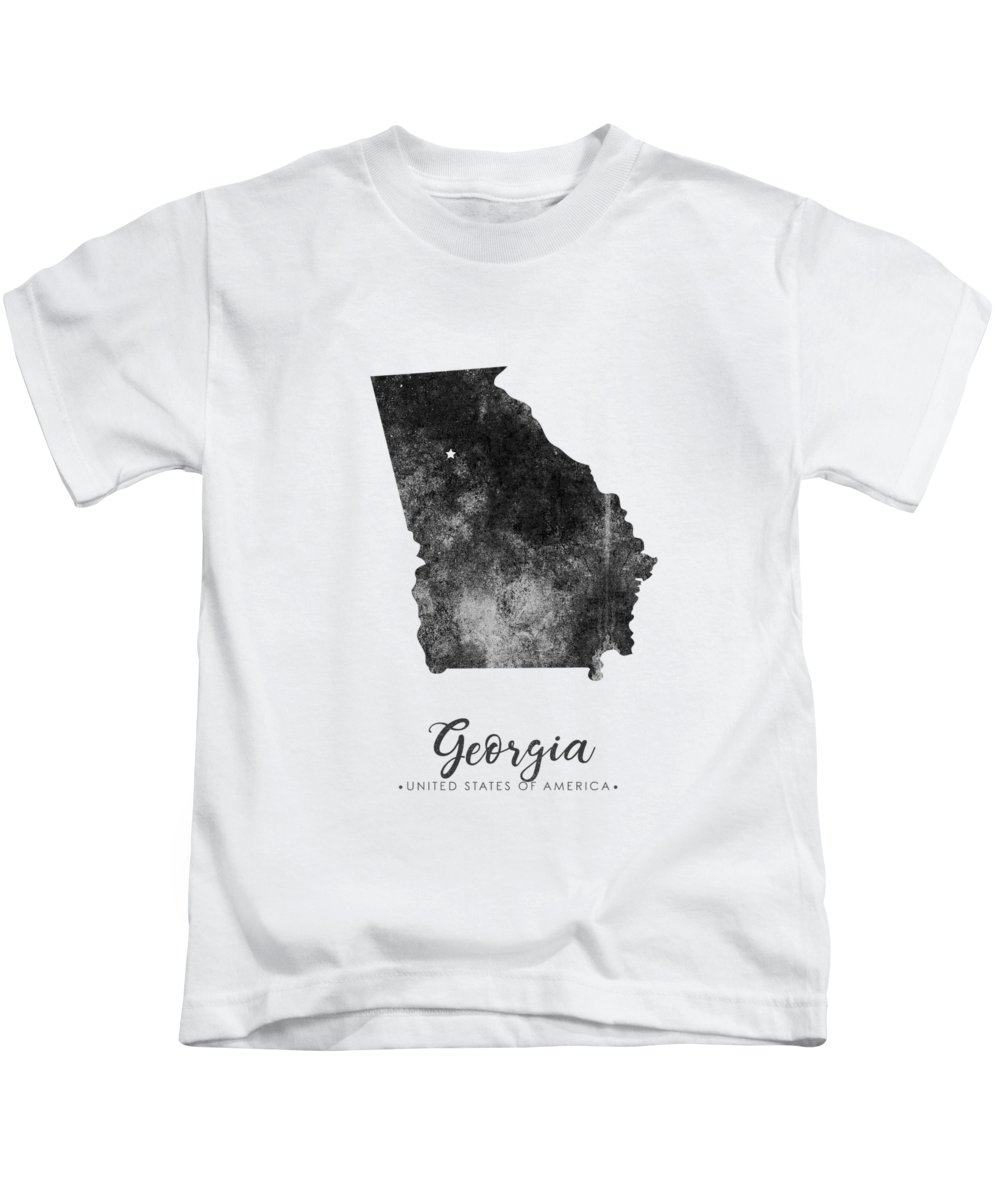 Map Of Georgia For Kids.Georgia State Map Art Grunge Silhouette Kids T Shirt For Sale By