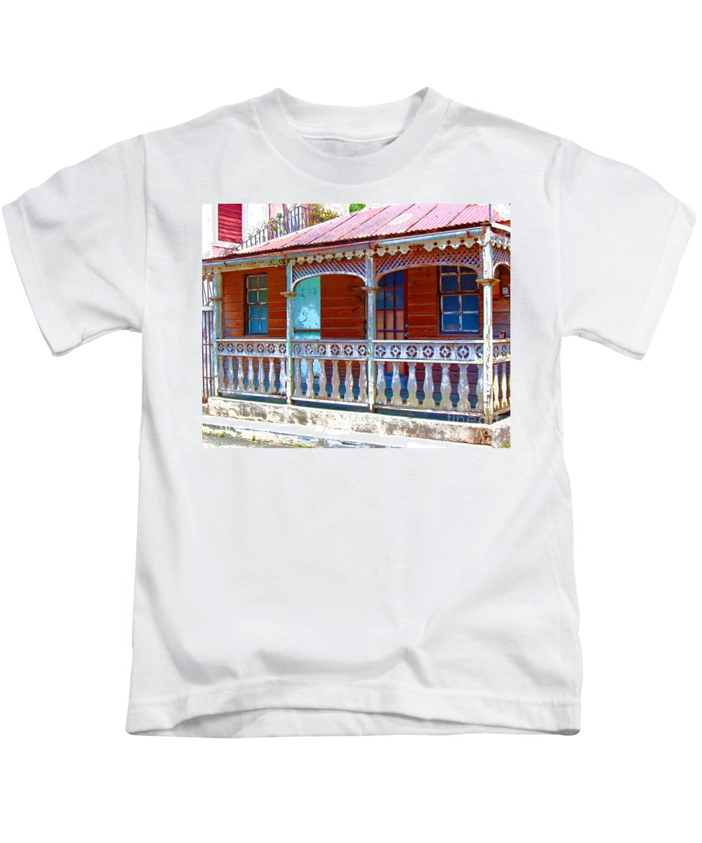 House Kids T-Shirt featuring the photograph Gingerbread House by Debbi Granruth