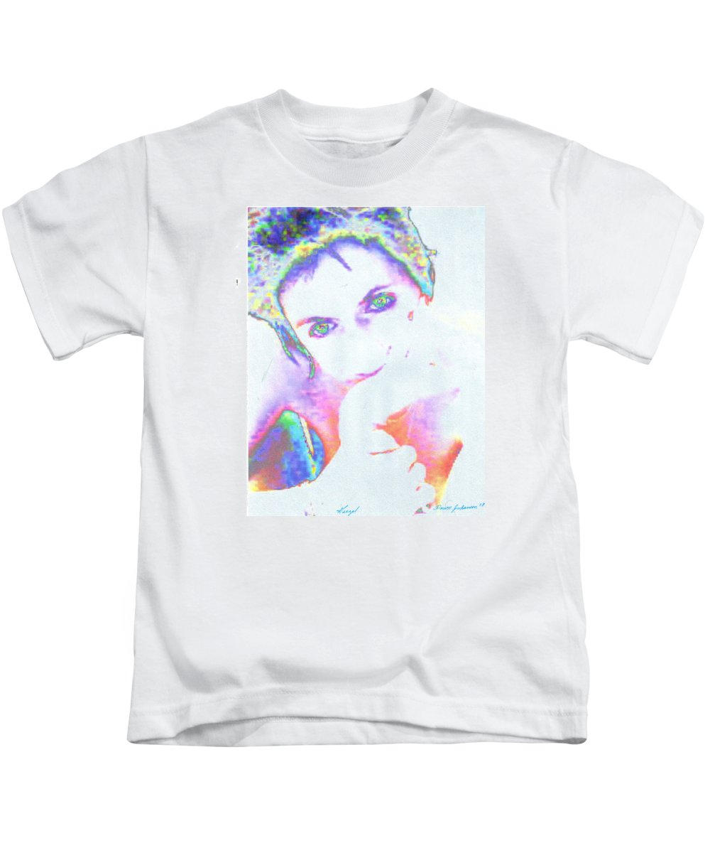Portrate Of A French Girl Kids T-Shirt featuring the photograph Gisele by Dawn Johansen