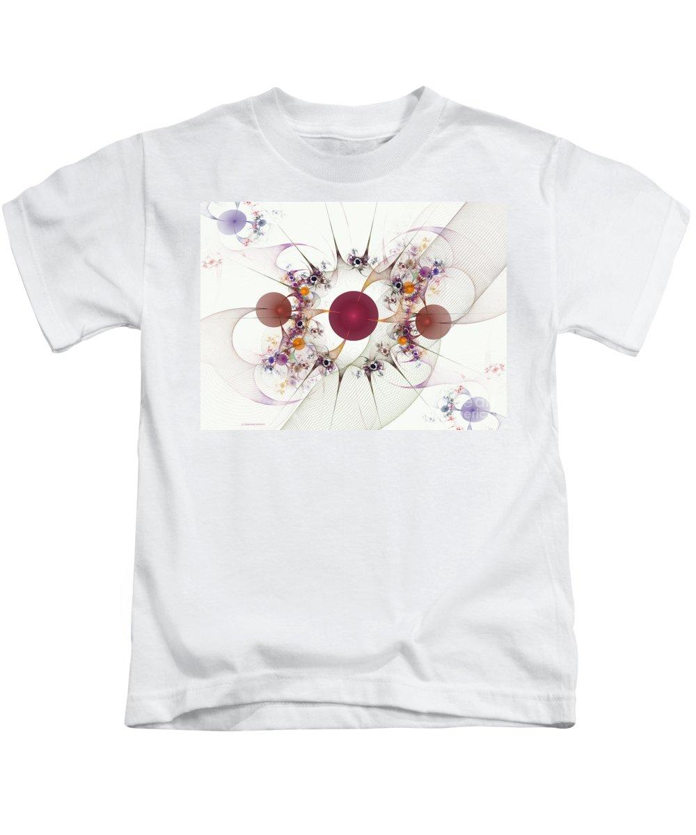 Globes Kids T-Shirt featuring the digital art Globes Of Many by Deborah Benoit