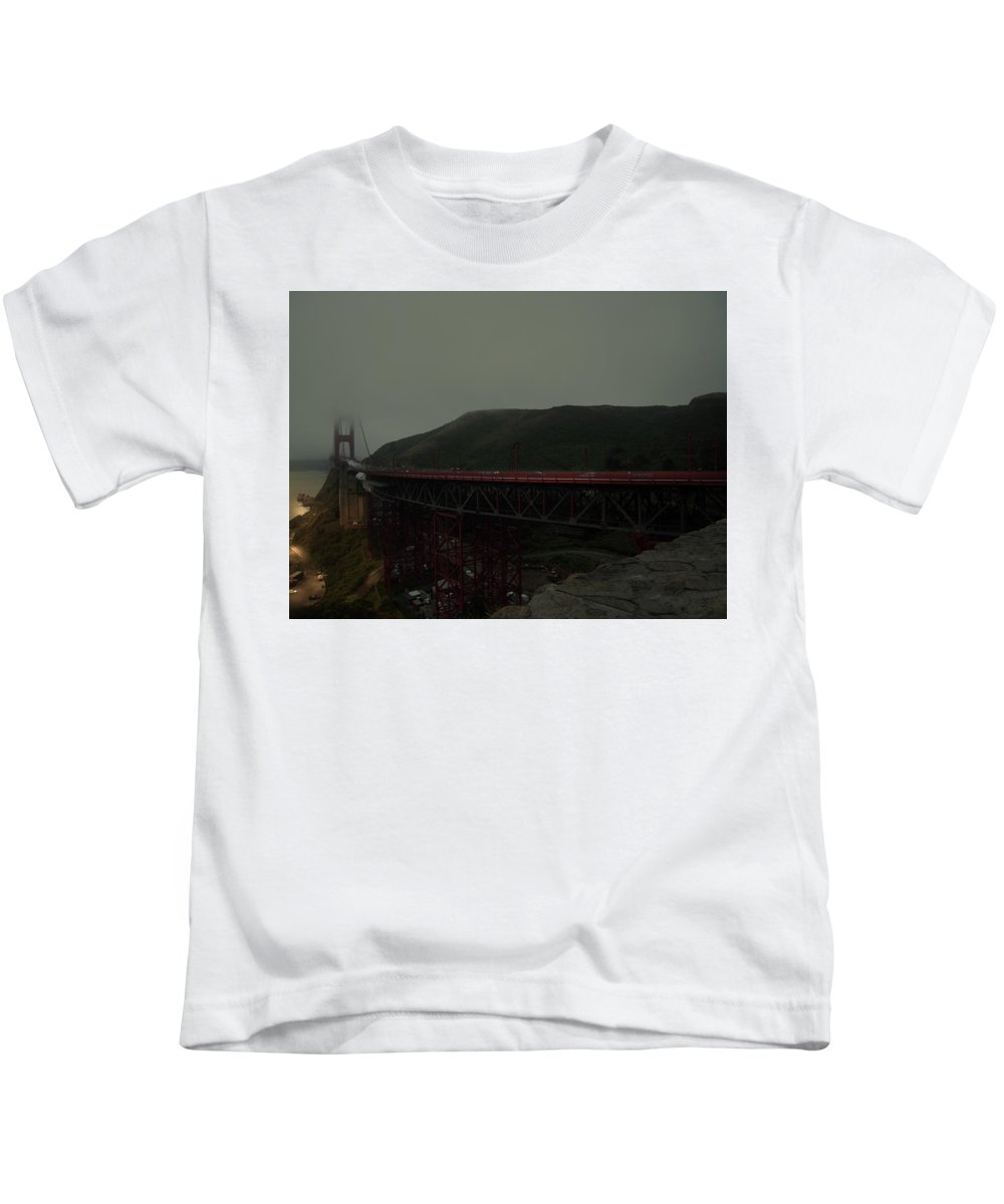 Bridge Kids T-Shirt featuring the photograph Golden Gate Bridge, California by Mo Amer