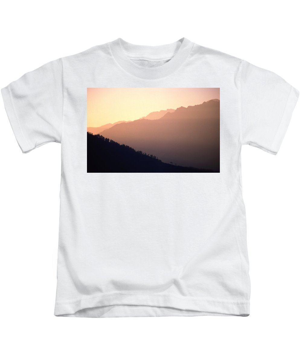 Langtang Kids T-Shirt featuring the photograph Golden Mountains by Patrick Klauss