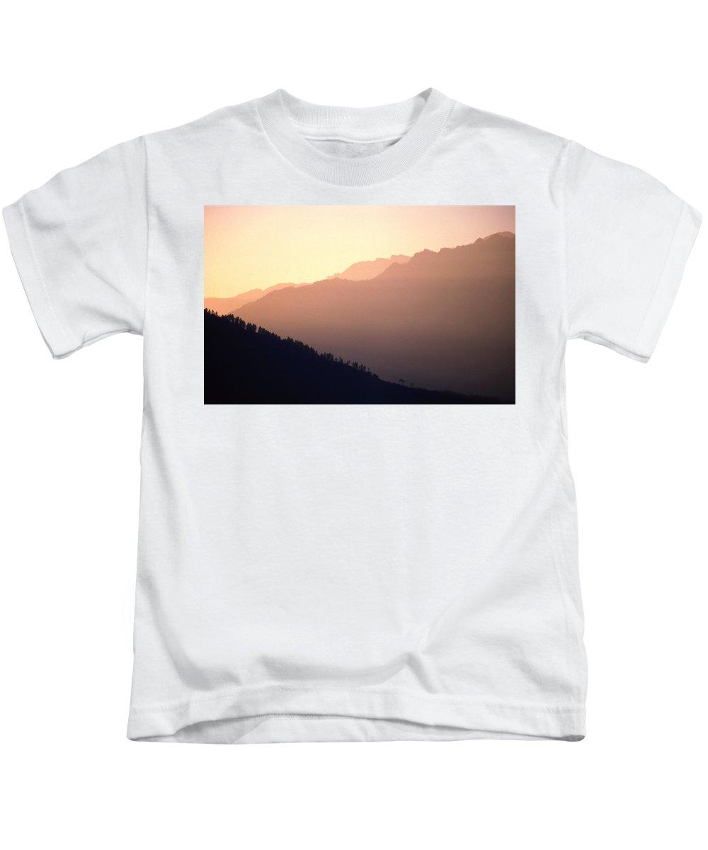 Langtang Kids T-Shirt featuring the photograph Golden Mountains by Patrick Klauss
