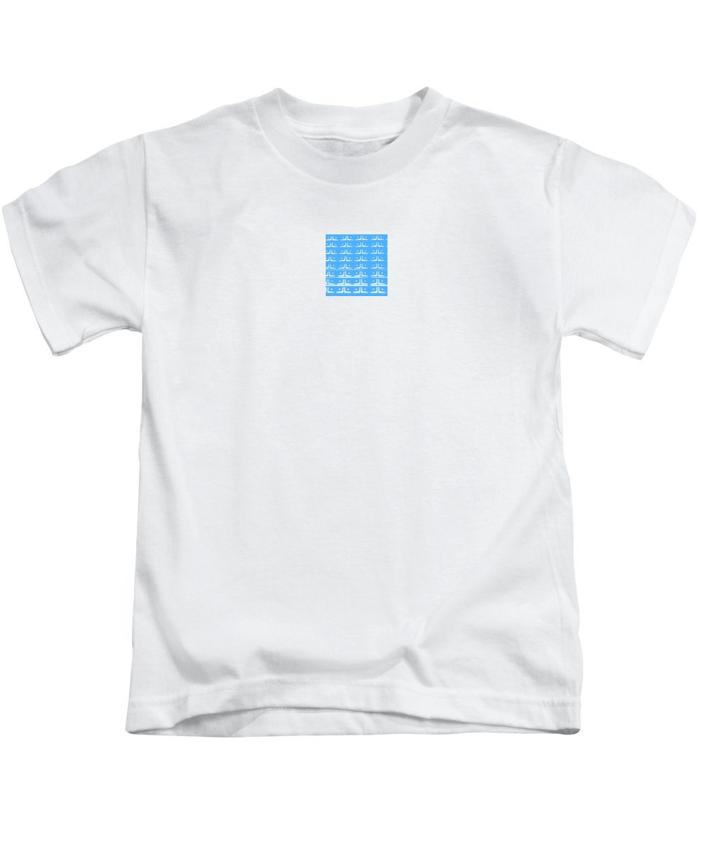 Abstract Prints Kids T-Shirt featuring the photograph Up Tempo In Baby Blueberry by Liz Love