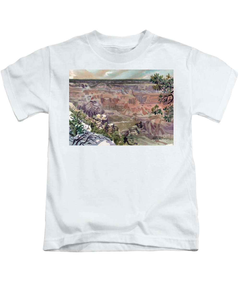 Grand Canyon Kids T-Shirt featuring the painting Grand Canyon 08 by Donald Maier