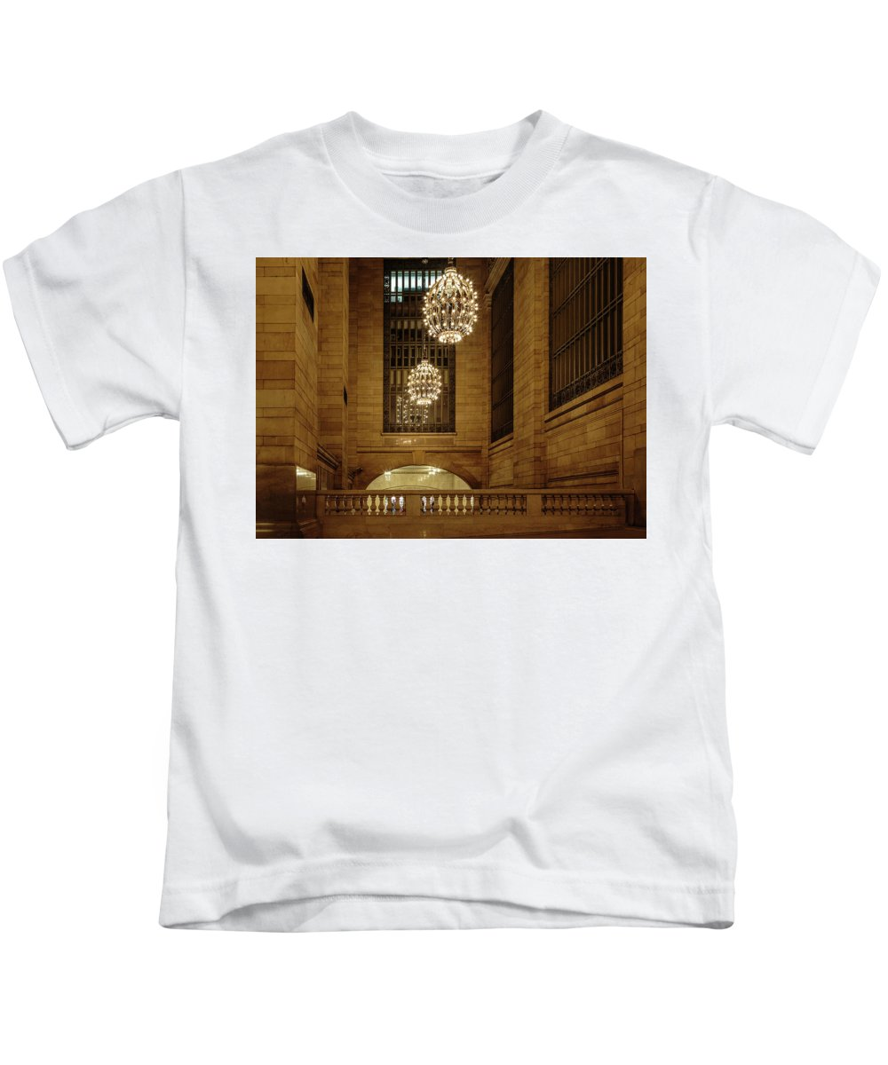 Nyc Kids T-Shirt featuring the photograph Grand Central Terminal Light Reflections by Charles A LaMatto