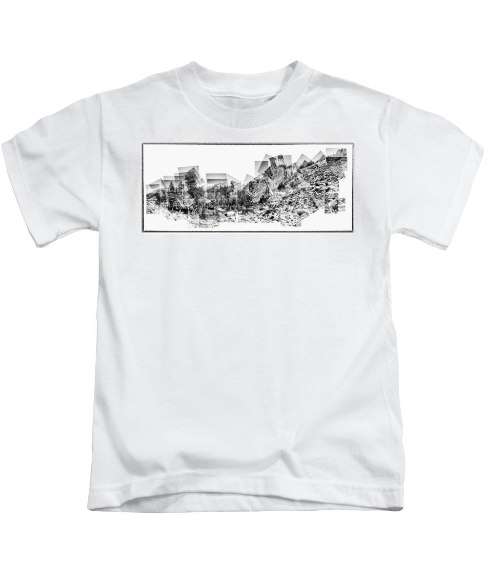 Landscape Kids T-Shirt featuring the photograph Granite Steps Eagle Lake Sequoia National Park California 2012 by Lawrence Knutsson