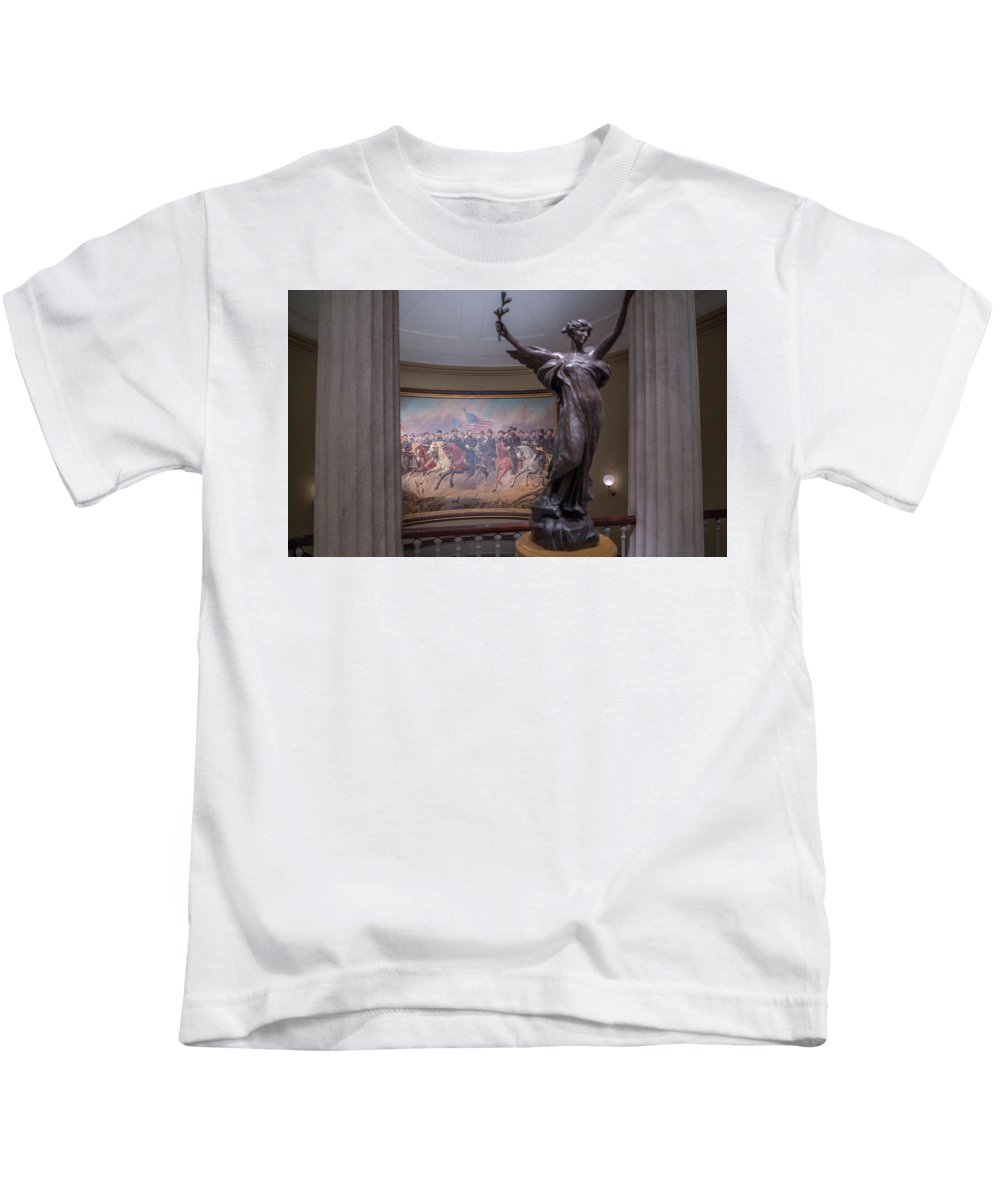 Kids T-Shirt featuring the photograph Grant And His Generals by Jared Windler