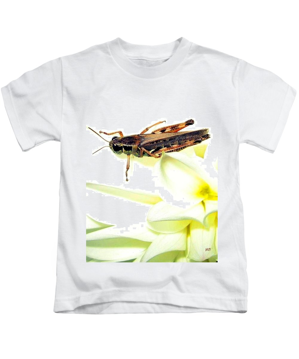 Grasshopper Kids T-Shirt featuring the photograph Grasshopper by Will Borden