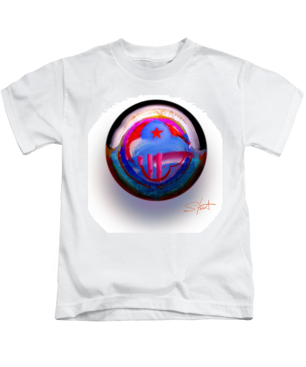 9/11 Kids T-Shirt featuring the painting Great Glad Morning by Charles Stuart