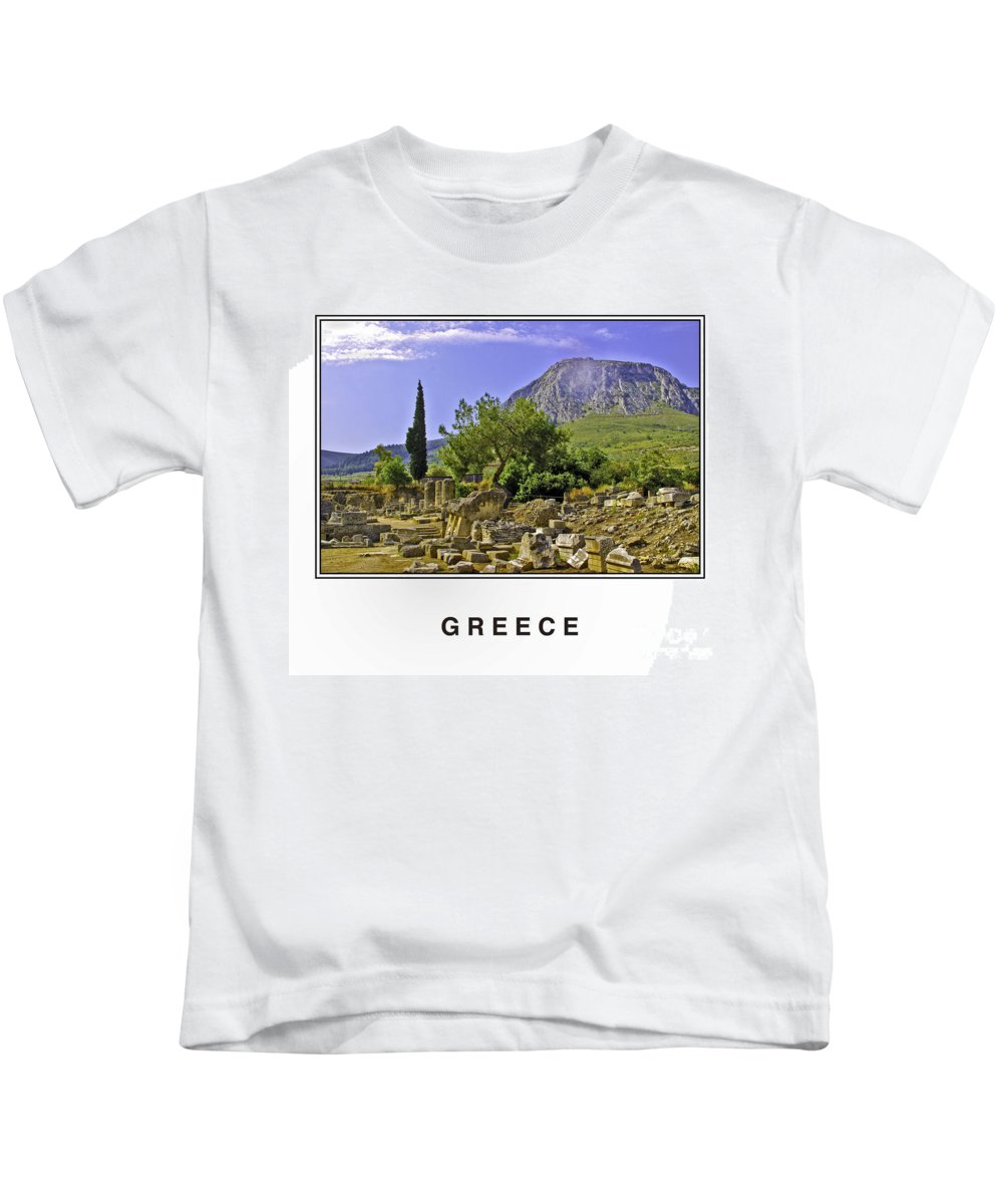 Greece Kids T-Shirt featuring the photograph Greece by Madeline Ellis