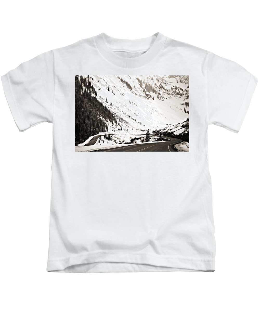 Curve Kids T-Shirt featuring the photograph Hairpin Turn by Marilyn Hunt