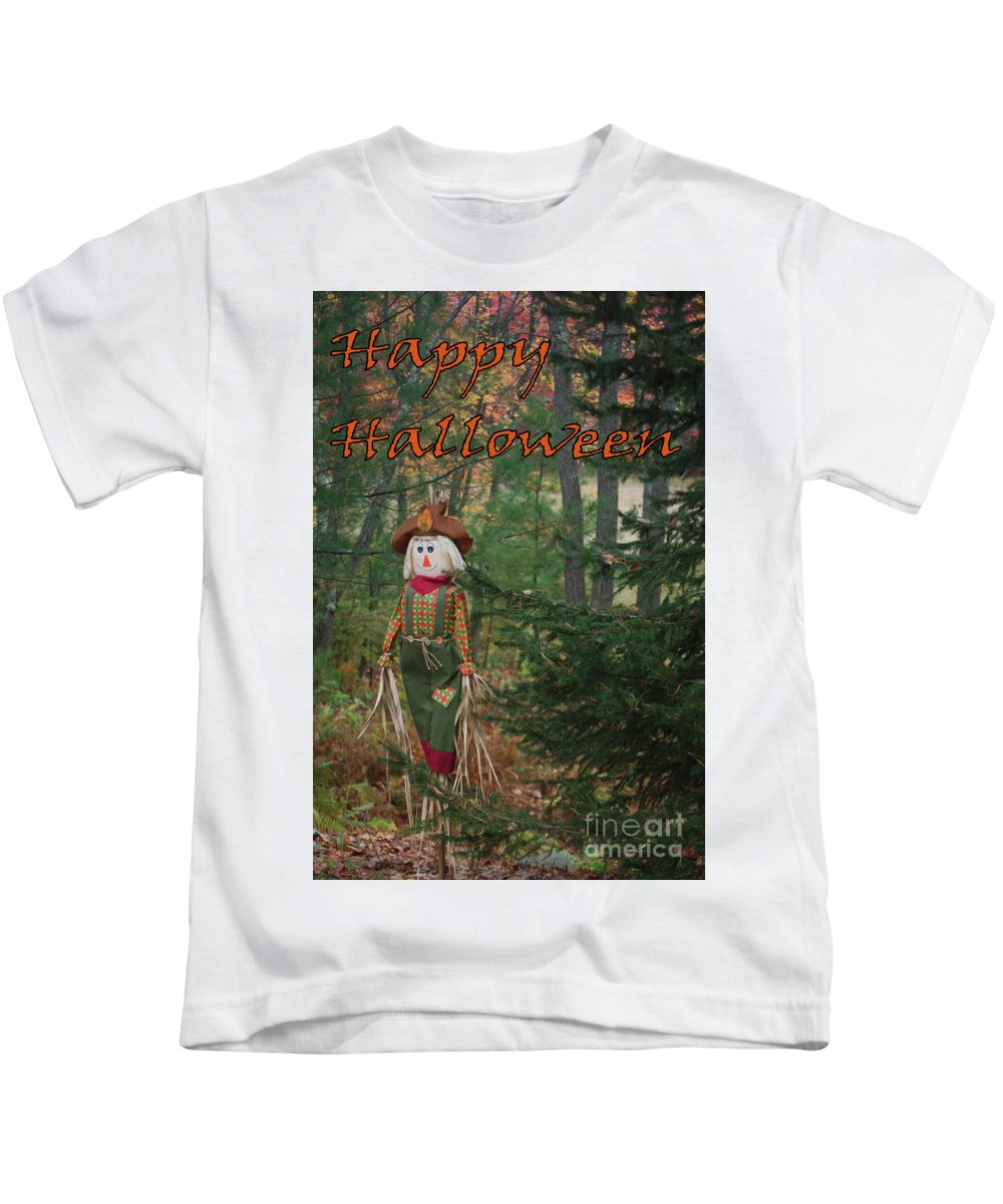 Cards Kids T-Shirt featuring the photograph Halloween Card by Eric Pearson