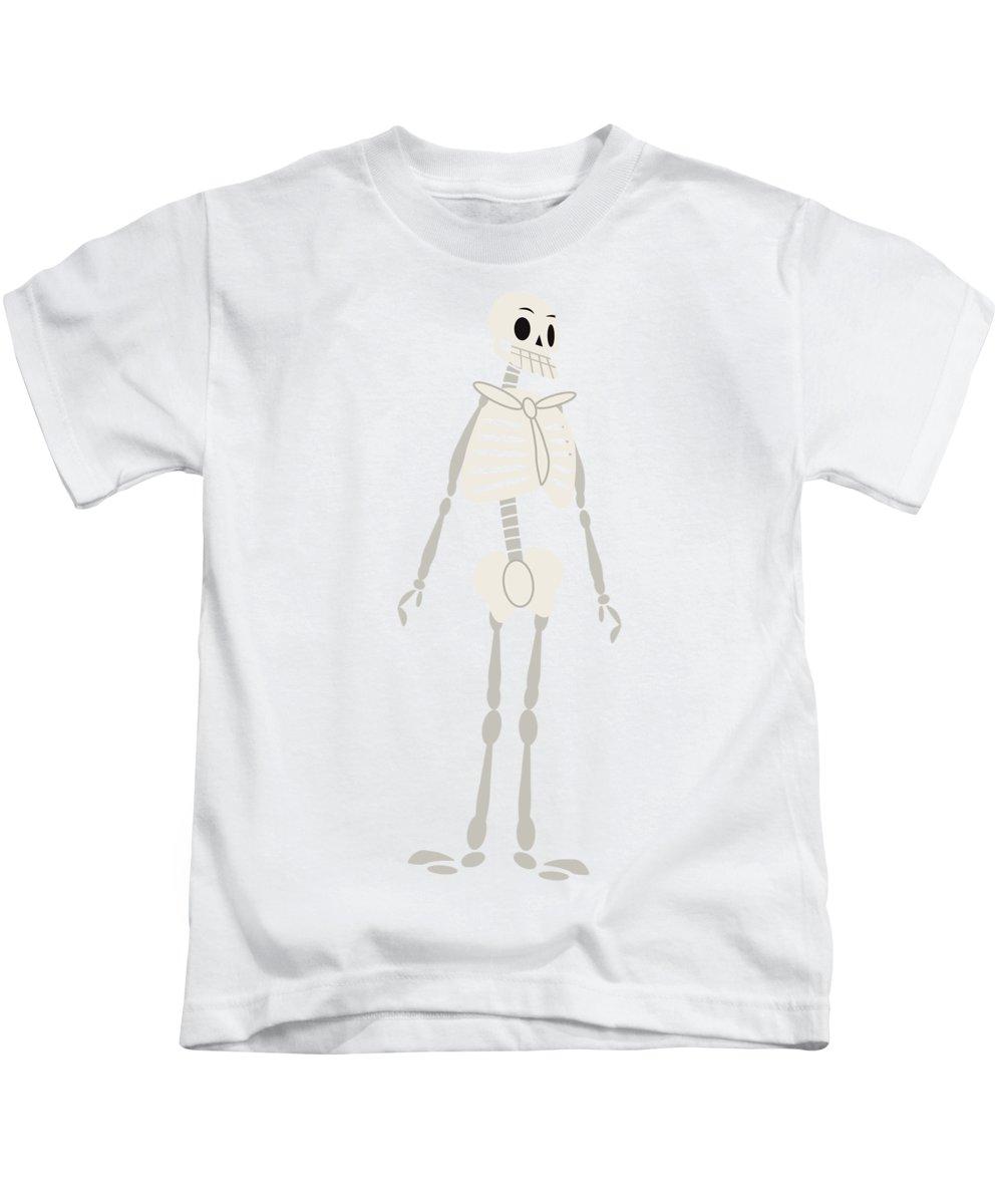 Halloween Kids T-Shirt featuring the painting Halloween Cartoon 03 by Pablo Romero