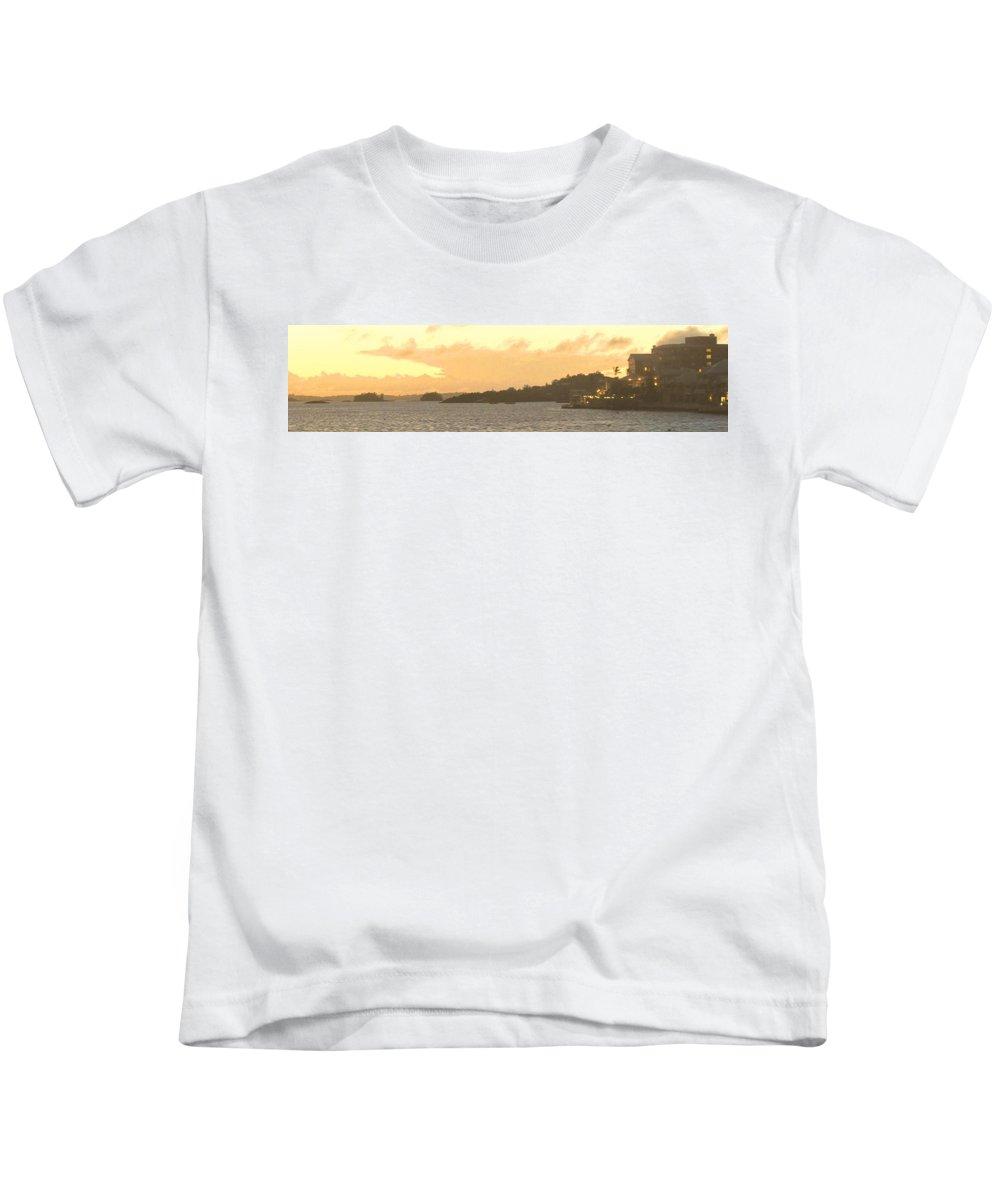 Hamiltion Kids T-Shirt featuring the photograph Hamilton Harbour Sunset by Ian MacDonald