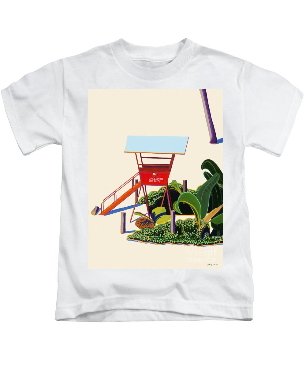 Acrylic Kids T-Shirt featuring the painting Hanauma Bay by Patti Bruce - Printscapes