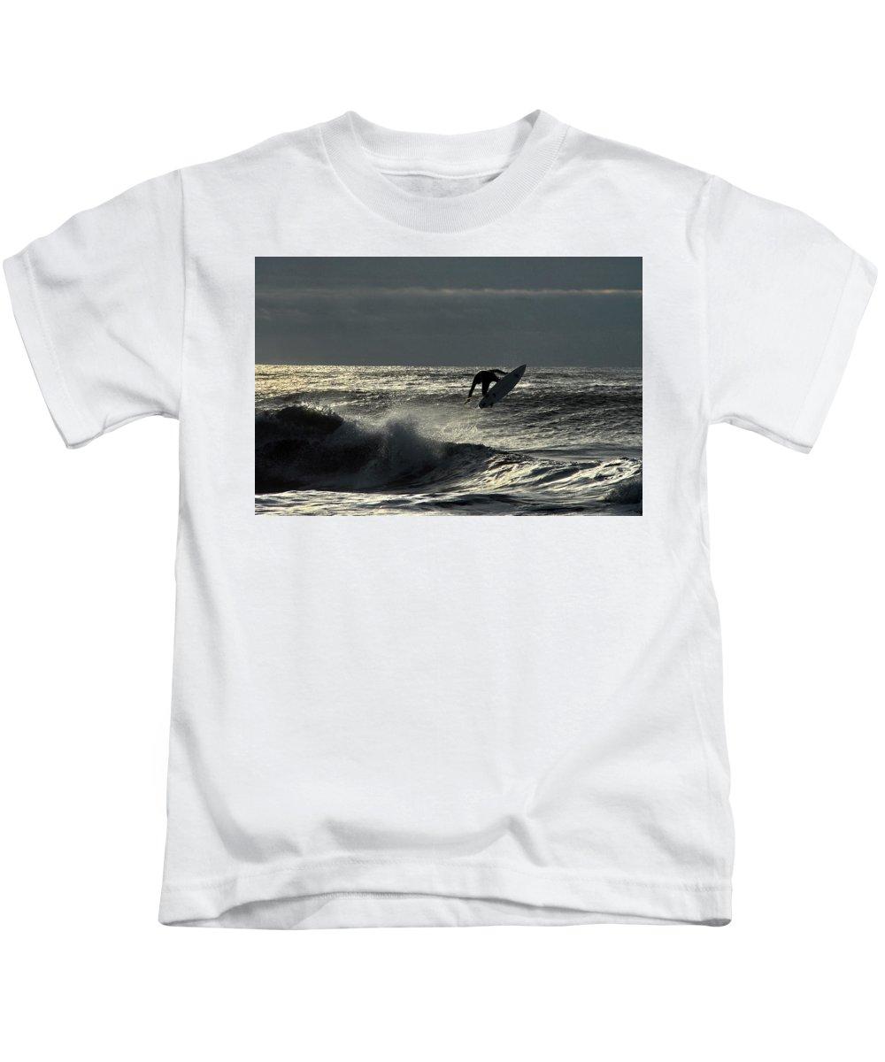 Surfing Kids T-Shirt featuring the photograph Hang Ten by Richard Worthington