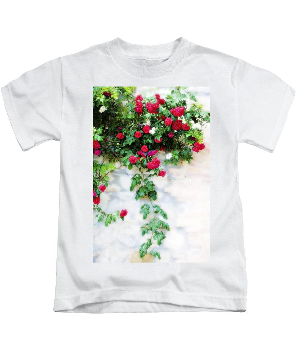 Hang Kids T-Shirt featuring the photograph Hangin Roses by Marilyn Hunt