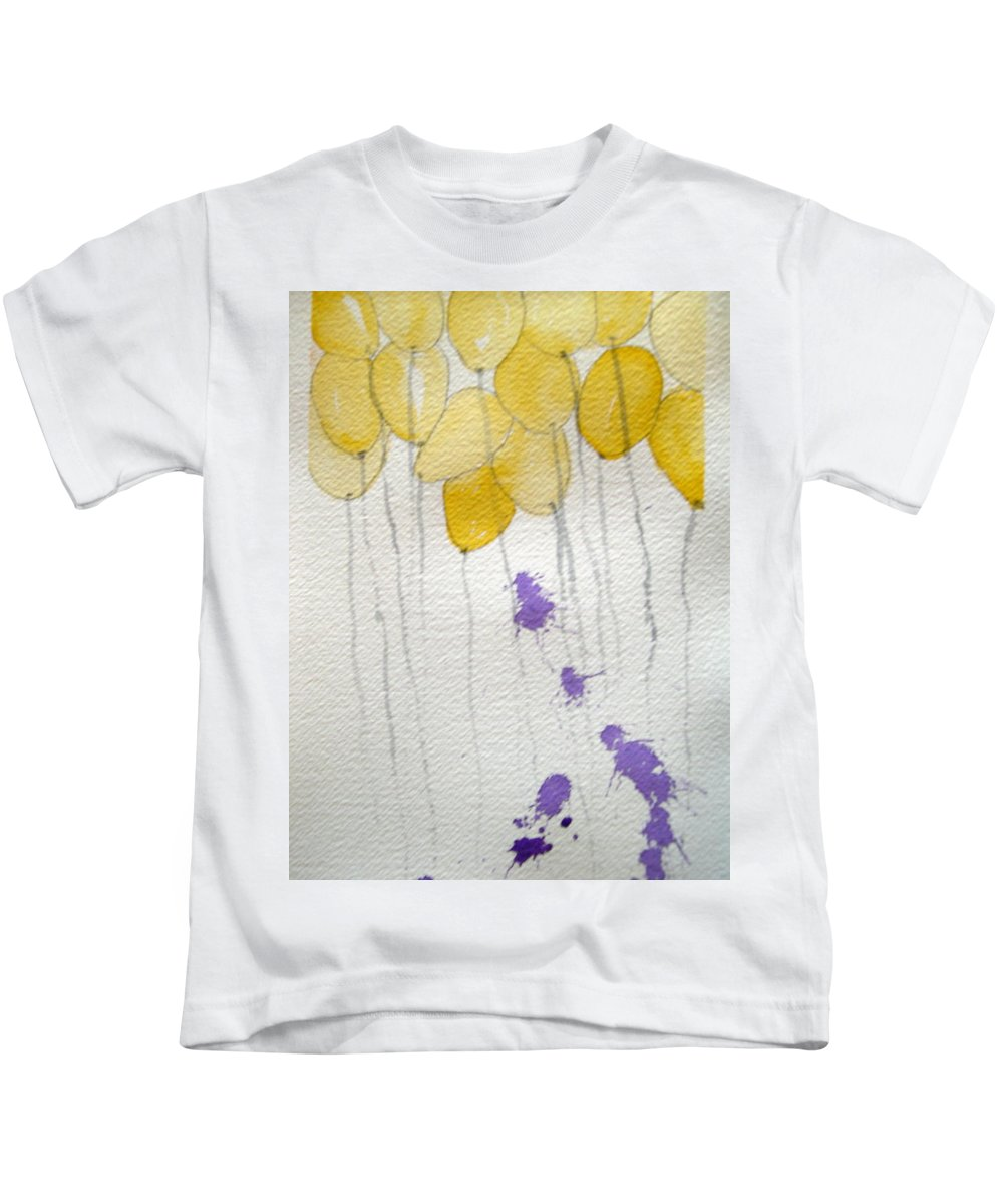 Balloon Celebrate Fun Happy Play Birthday Kids T-Shirt featuring the painting Happy Birthday Ashleigh by Patricia Caldwell