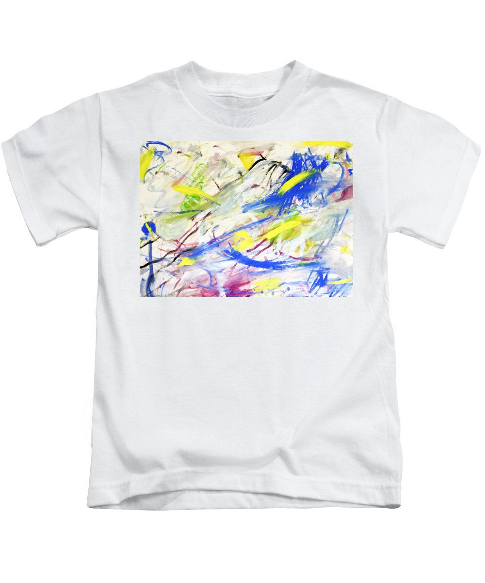 Abstract Kids T-Shirt featuring the painting Happy Chaos by Lee Serenethos