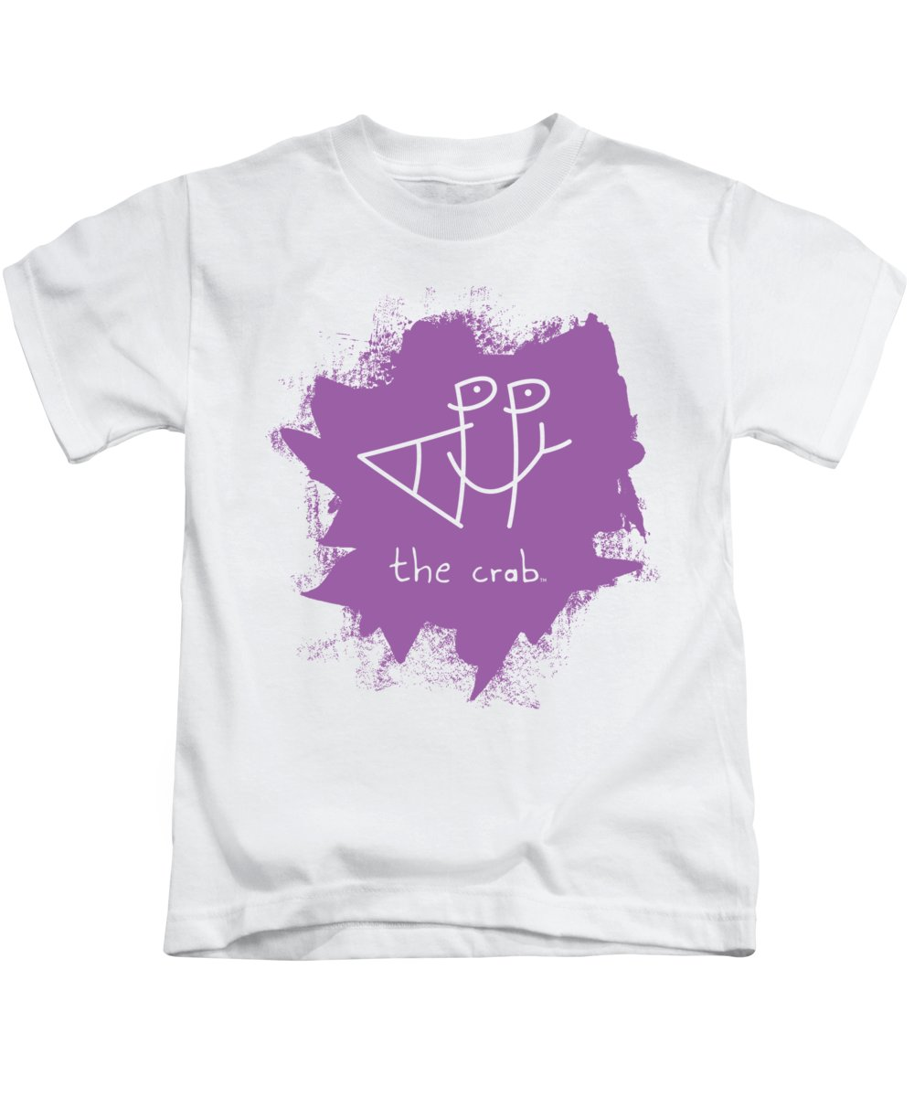 Happy Kids T-Shirt featuring the mixed media Happy The Crab - Purple by Chris N Rohrbach