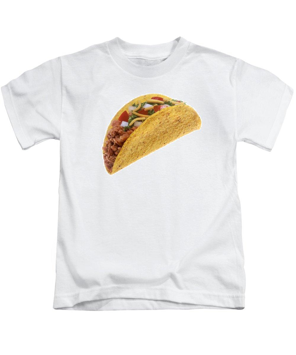Taco Kids T-Shirt featuring the photograph Hard Shell Taco by PhotographyAssociates