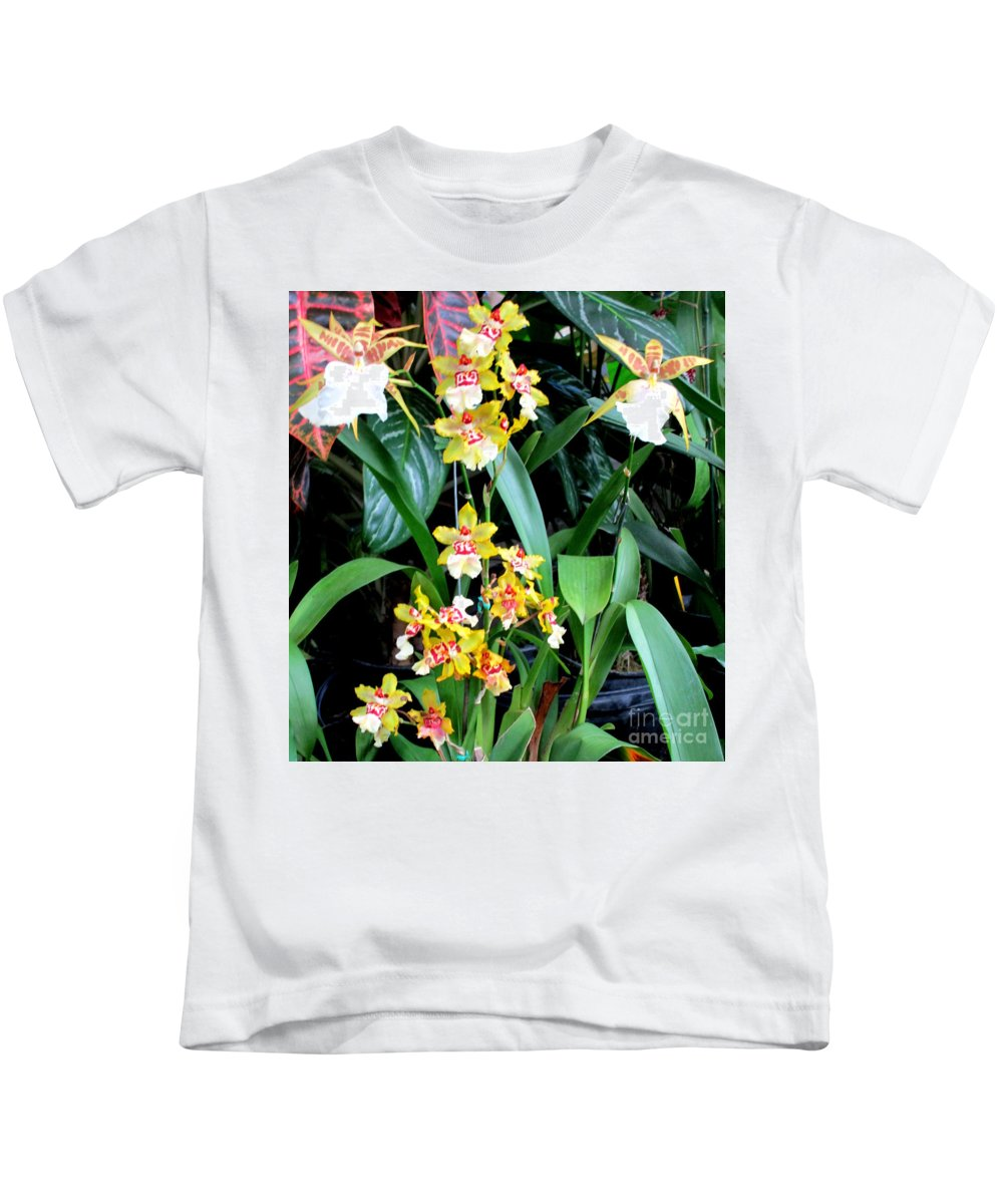 Orchid Kids T-Shirt featuring the photograph Hawaiian Orchid 36 by Randall Weidner