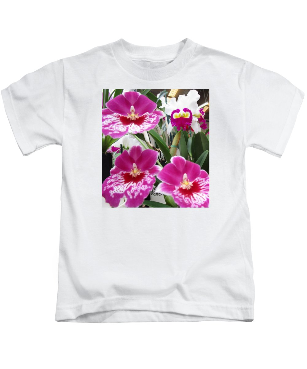 Orchid Kids T-Shirt featuring the photograph Hawaiian Orchid 5 by Randall Weidner