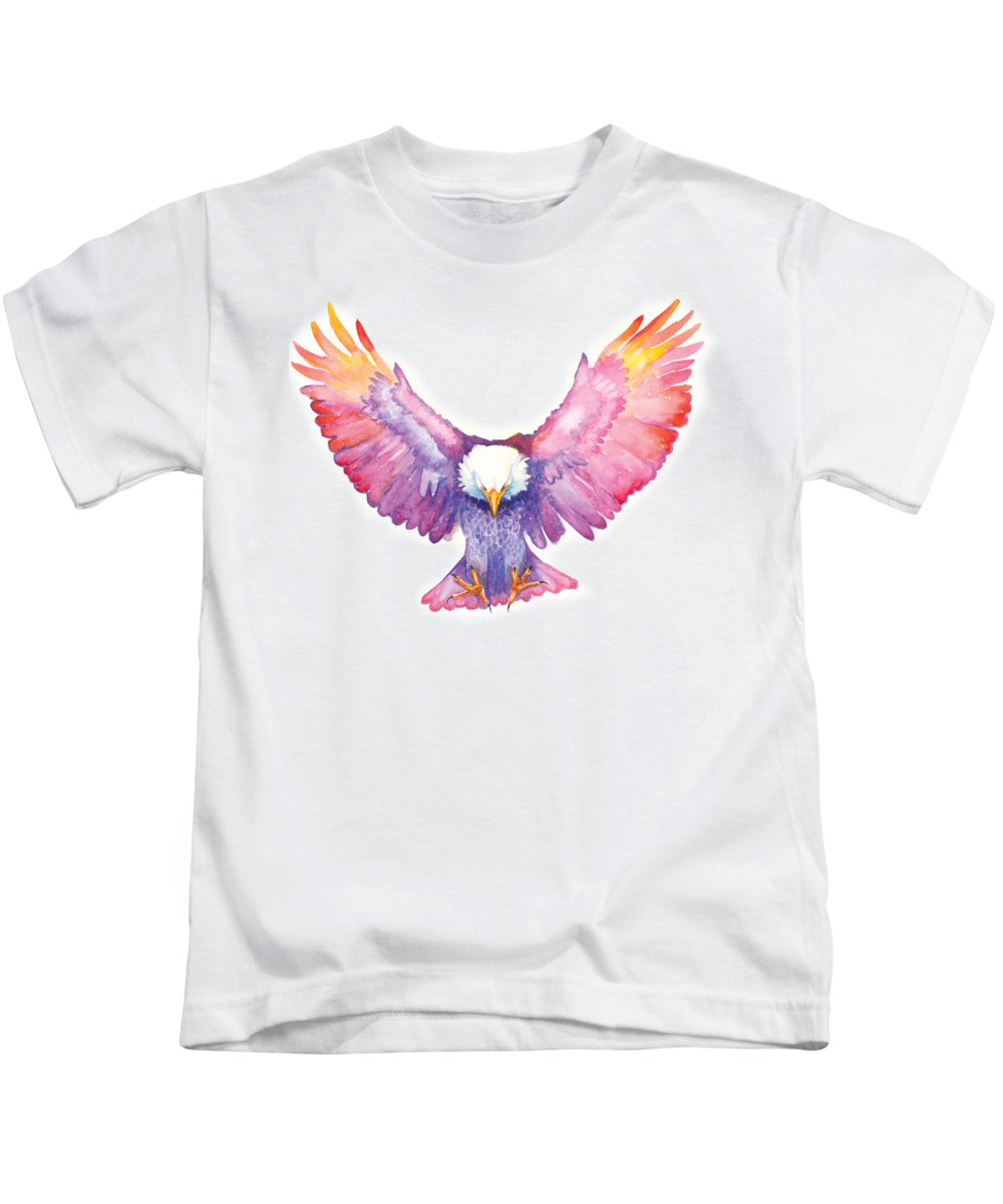 Eagle Kids T-Shirt featuring the painting Healing Wings by Cindy Elsharouni