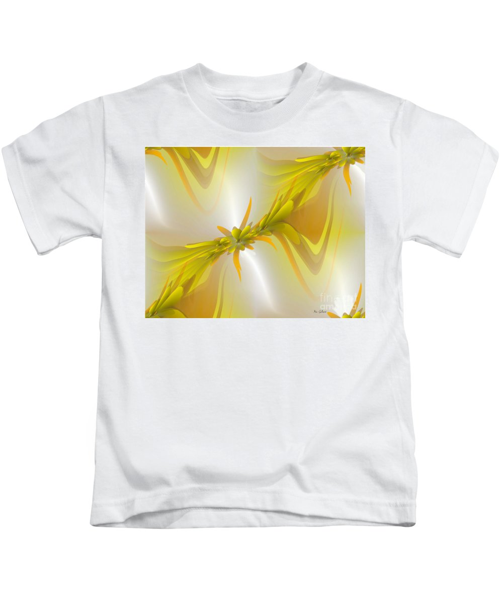 Abstract Digital Art Kids T-Shirt featuring the digital art Heavenly by Iris Gelbart