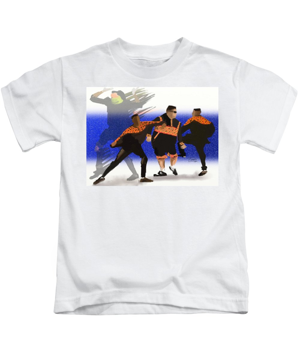 Hip Hop Kids T-Shirt featuring the drawing Heavy by Terri Meredith