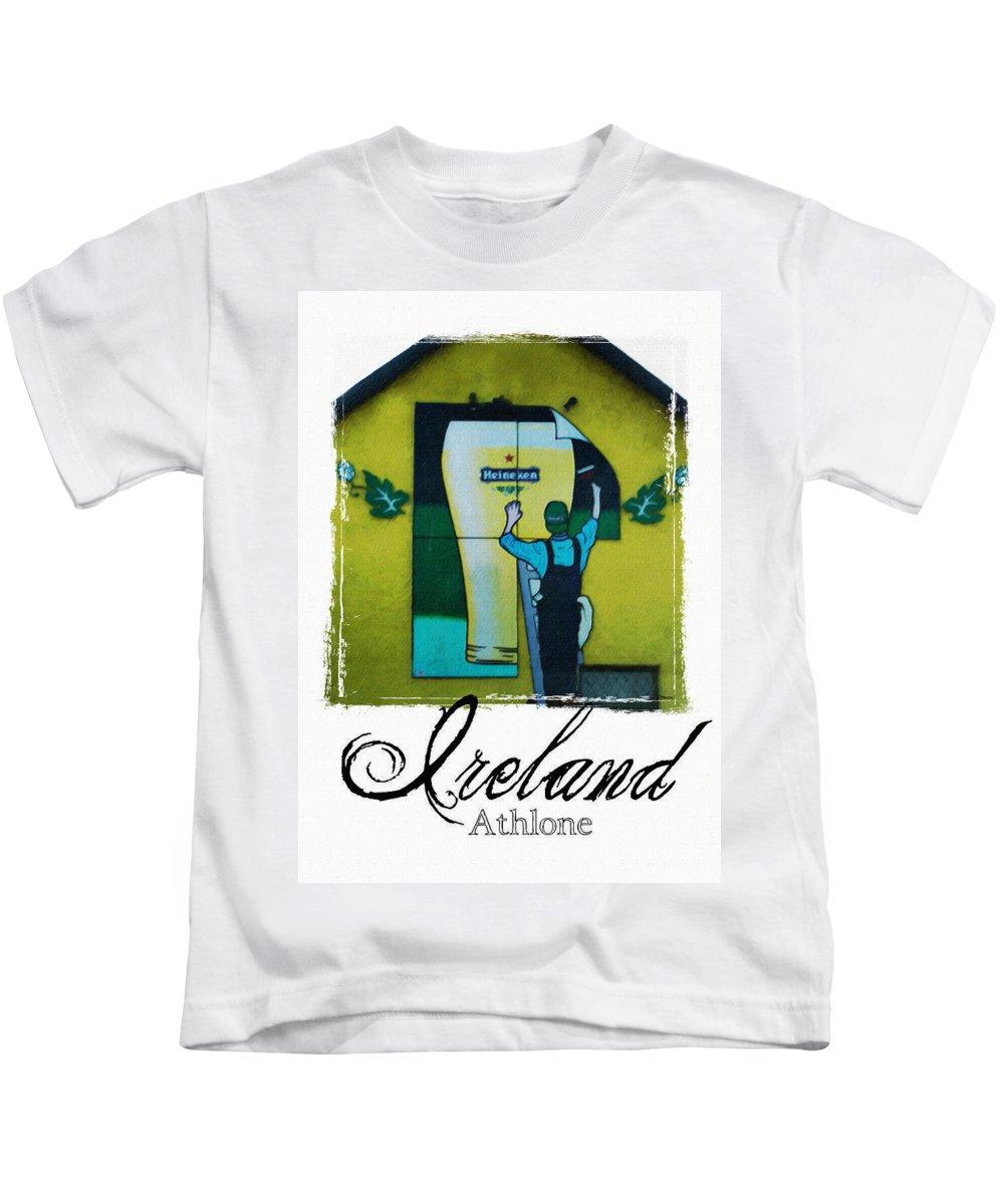 Heineken Kids T-Shirt featuring the photograph Heineken Athlone Ireland by Teresa Mucha