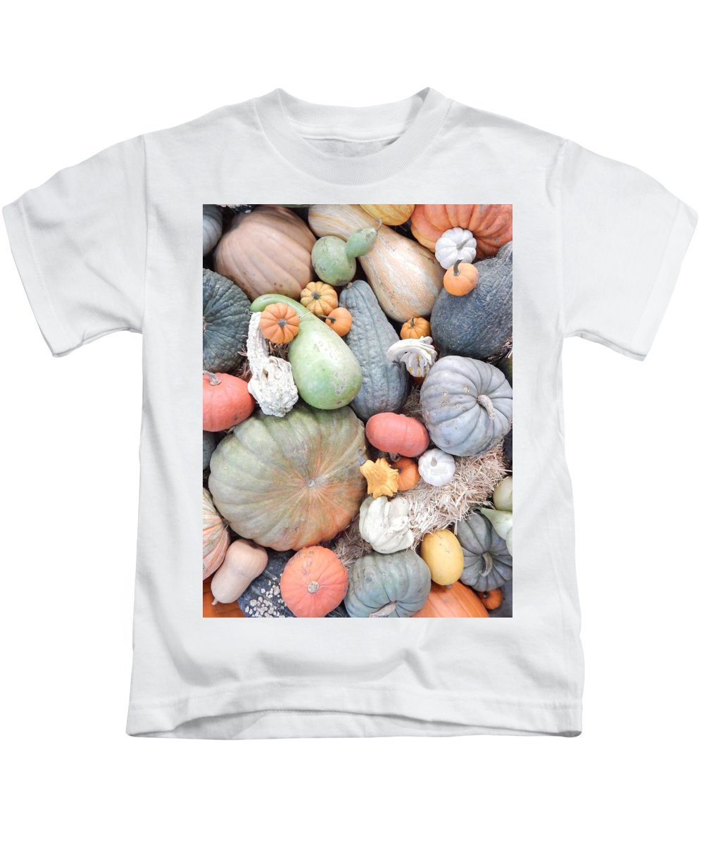 Produce Kids T-Shirt featuring the photograph Heirlooms On Display #2 by Glen Faxon