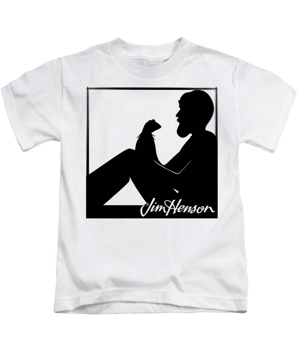 Jim Henson Kids T-Shirt featuring the digital art Henson's Moment by Jennifer Westlake