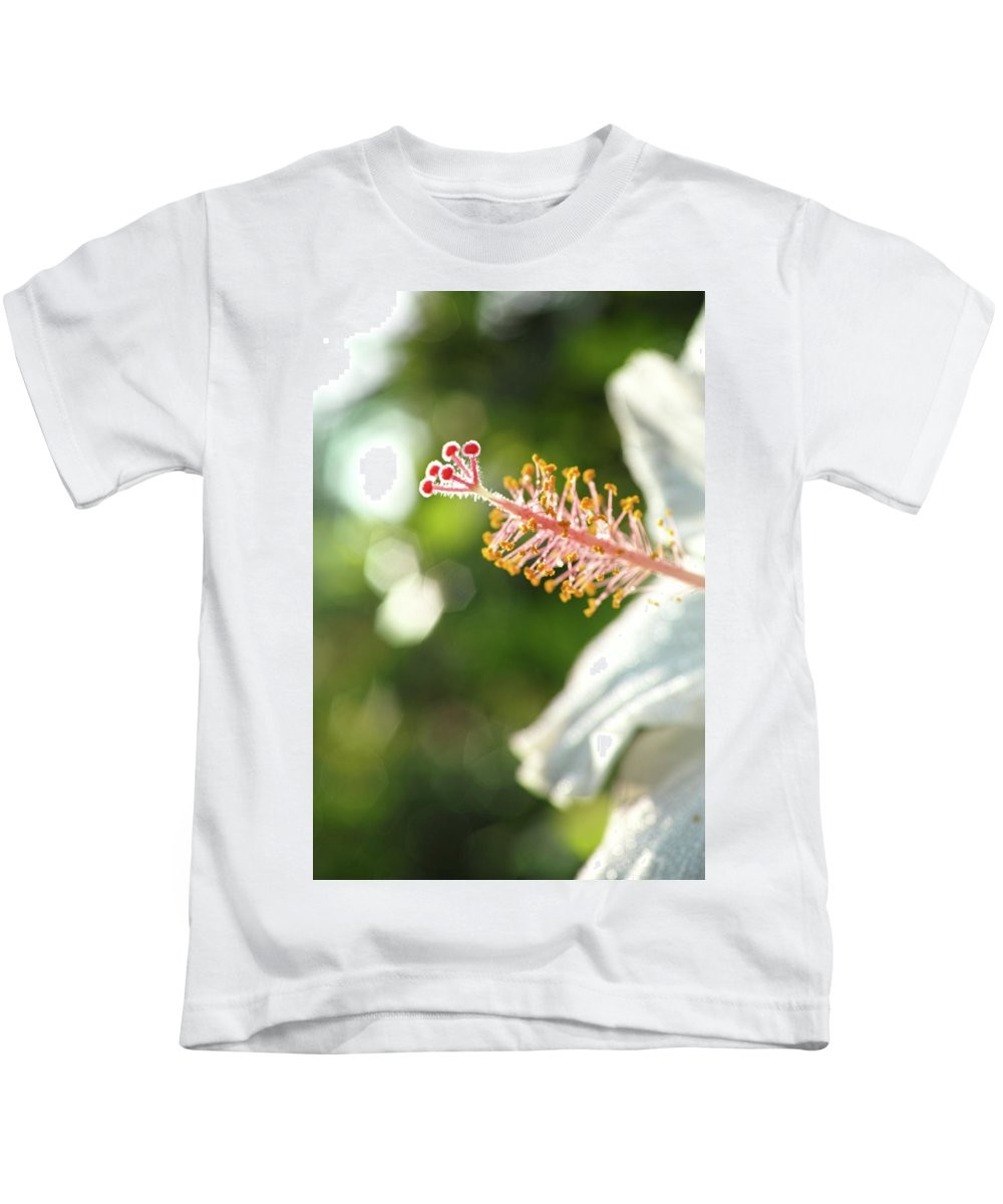 Kids T-Shirt featuring the photograph Hibiscus by Wayne Wilkinson