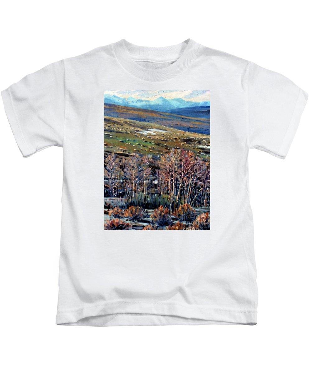 High Sierra Kids T-Shirt featuring the painting High Sierra by Donald Maier