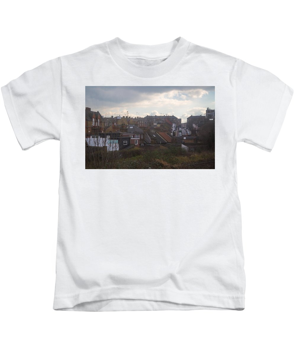 Kids T-Shirt featuring the photograph High Road by Jared Windler