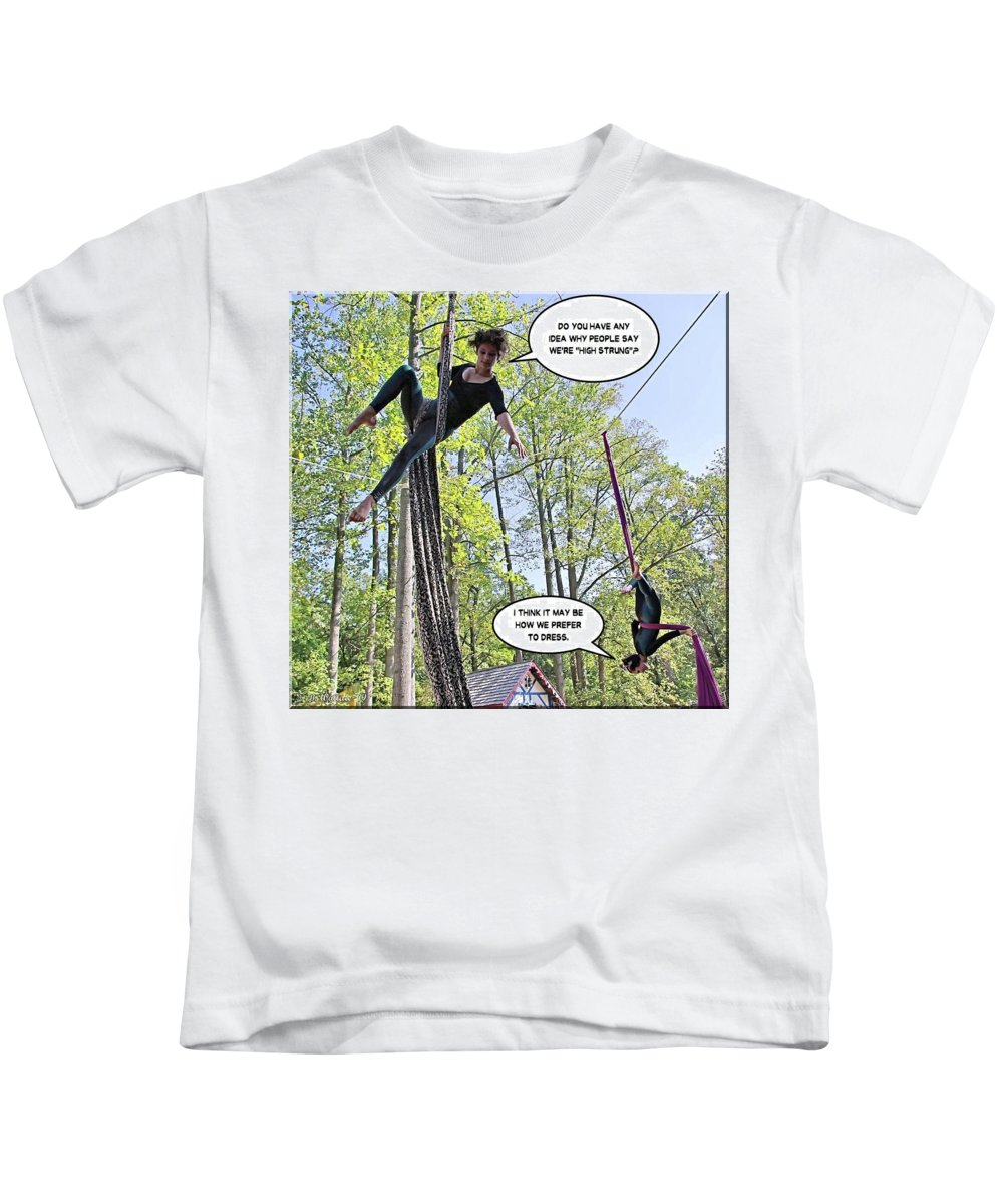 2d Kids T-Shirt featuring the photograph High Strung by Brian Wallace