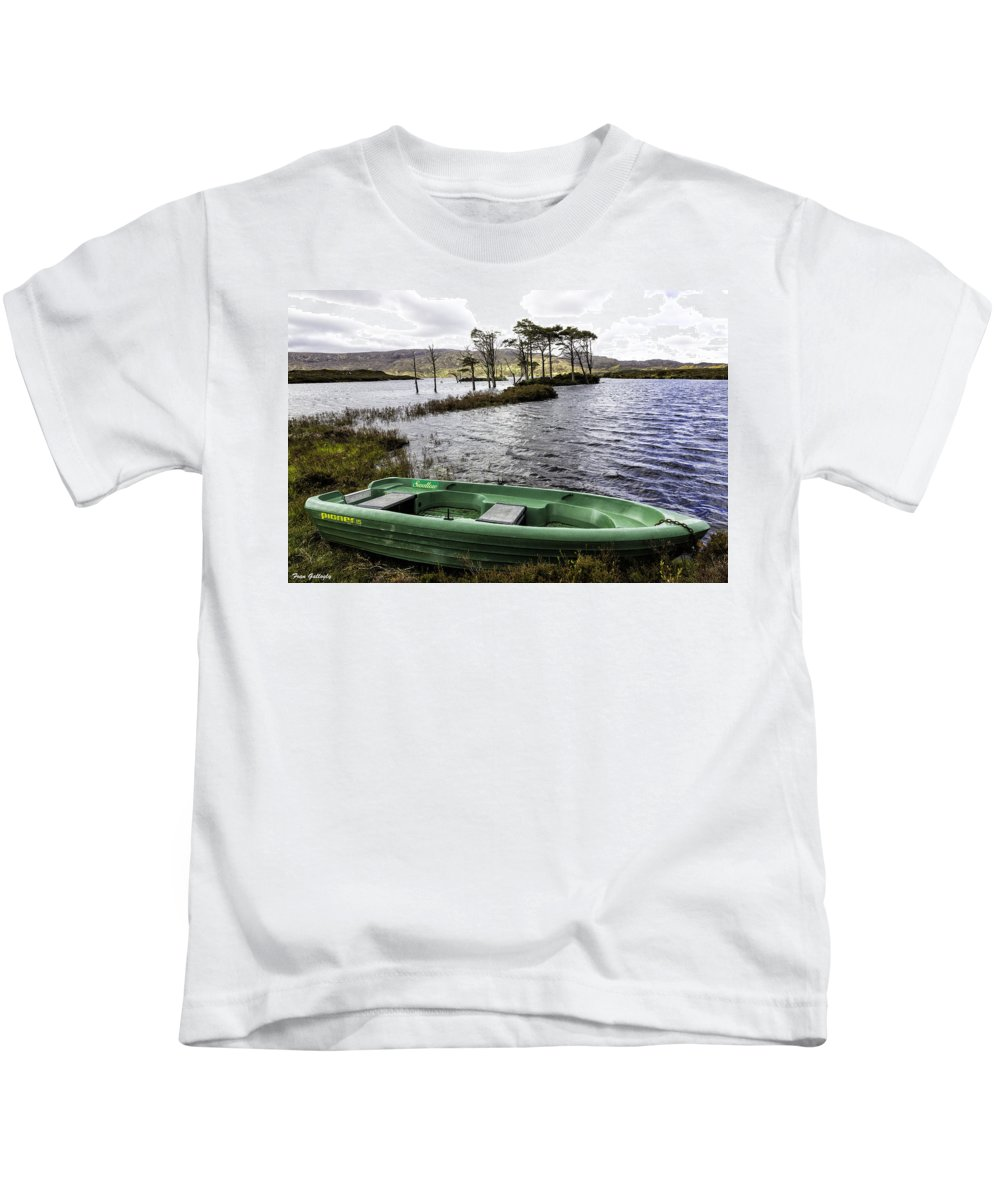 Loch Kids T-Shirt featuring the photograph Highland Loch by Fran Gallogly