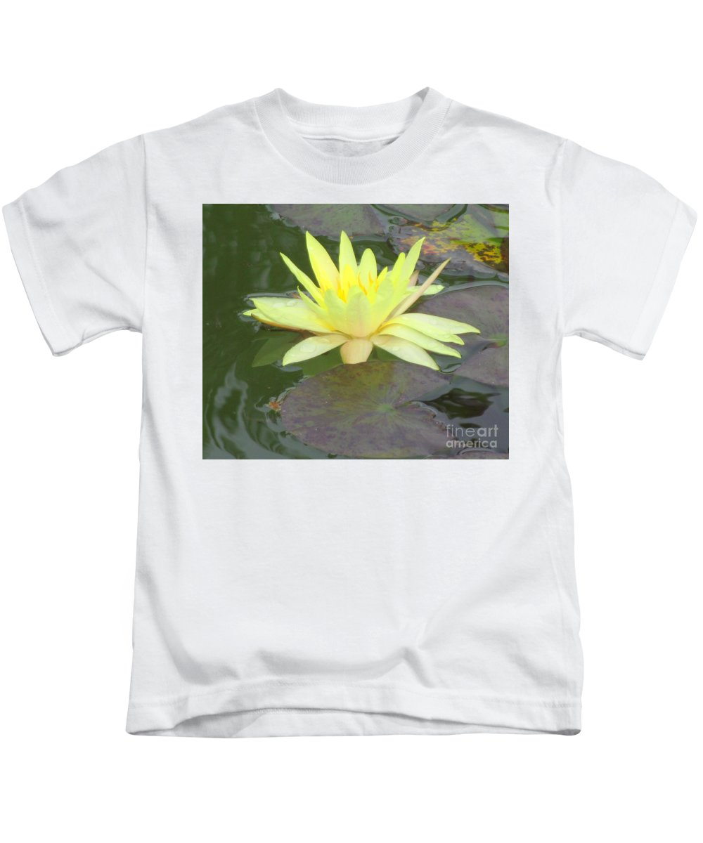 Water Lilly Kids T-Shirt featuring the photograph Hilo Water Lily 4 by Randall Weidner