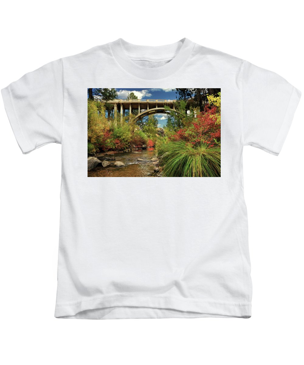 Historic Kids T-Shirt featuring the photograph Historic Highway Bridge - Susan River by James Eddy
