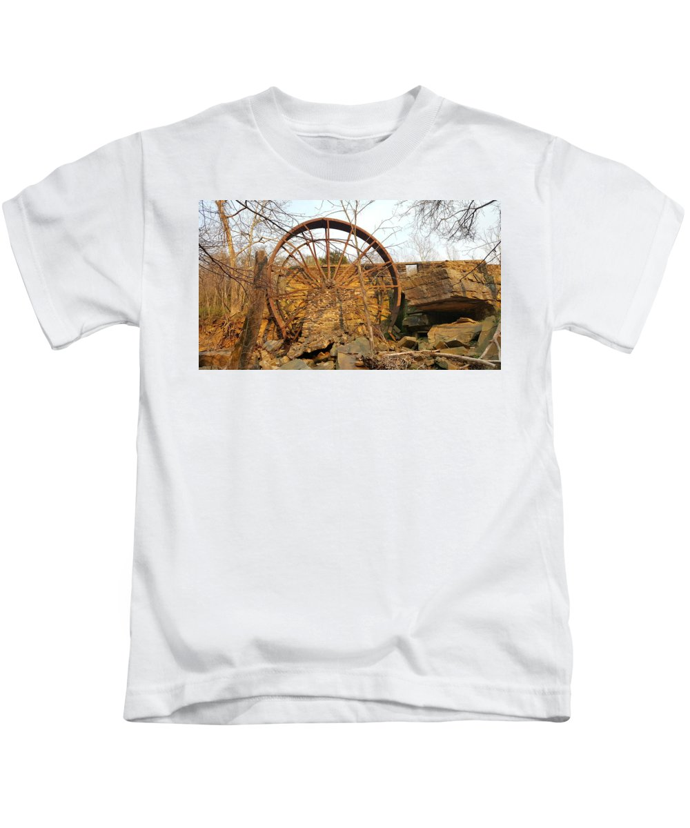 Black Kids T-Shirt featuring the photograph Holding Time by Lori Morrow