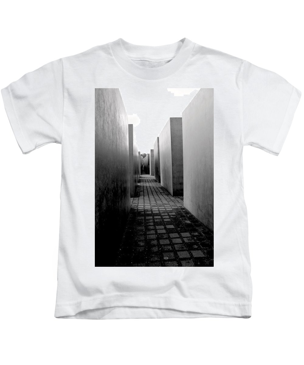Holocaust Kids T-Shirt featuring the photograph Holocaust Memorial Two by Nicholas Miller